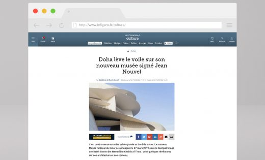 Article on the National Museum of Qatar – Le Figaro