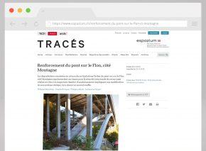 Tracés-Magazin – Artikel über die Flon-Brücke