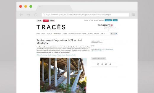 Revue Tracés – Article sur le Pont sur le Flon