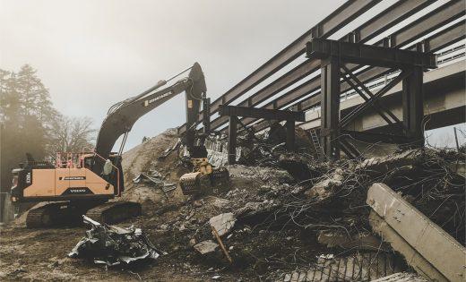 Démolition des ponts provisoires du pont sur le Lavapesson – OFROU