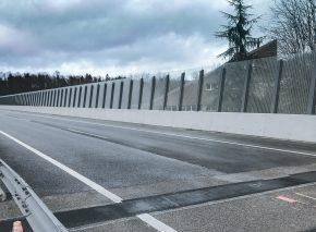 Noise barrier – Bridges over the Paudèze river – FEDRO