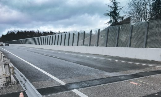 Noise barrier – Bridges over the Paudèze river – FEDRO