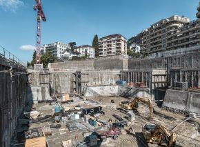 Elysée and mudac museum Excavation works