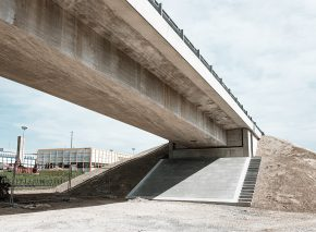 Pont sur le Lavapesson – fin de la phase 2.1