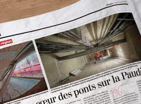 Artikel aus der Zeitung 24Heures über die Brücken über die Paudèze